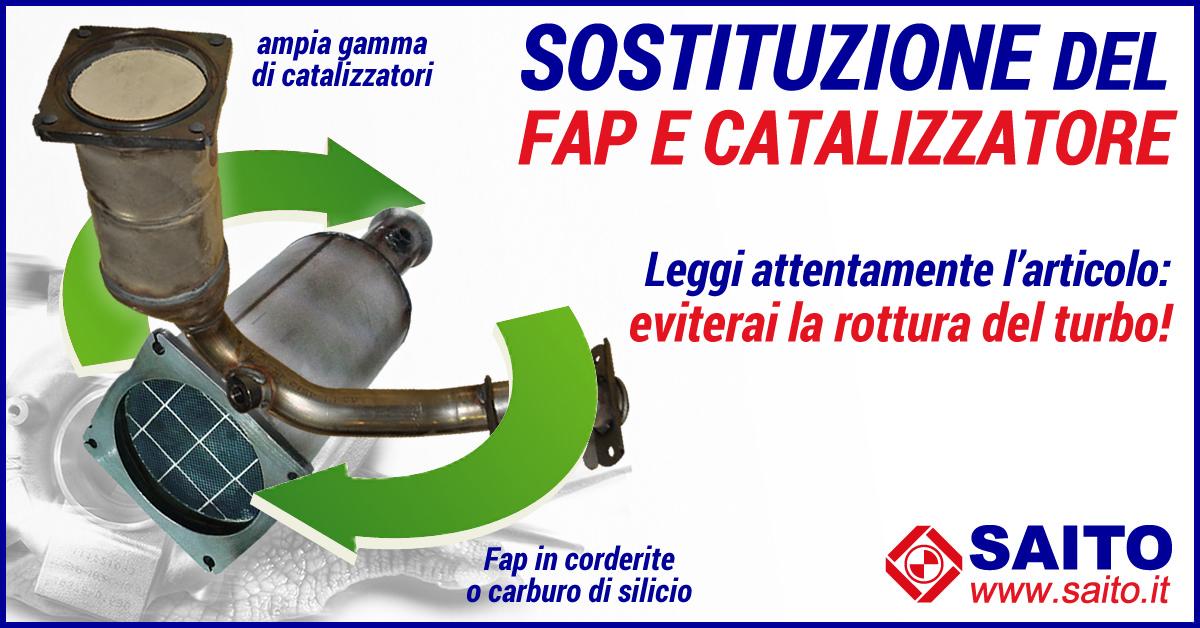 Sostituzione del fap o catalizzatore | SAITO
