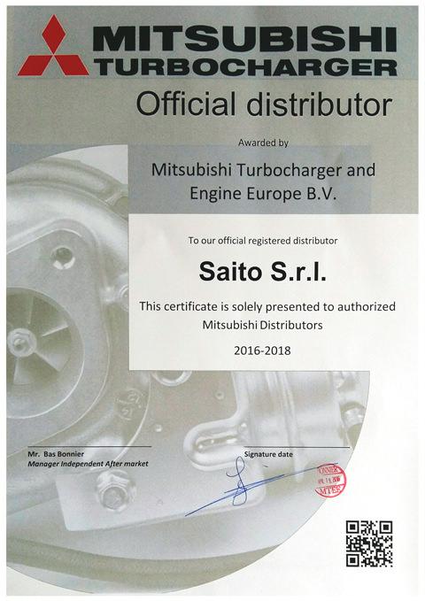 Attestato distributore ufficiale Mitsubishi | SAITO