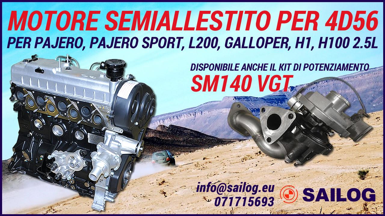 Motore semi-completo per 4D56 / D4BH | SAITO/SAILOG