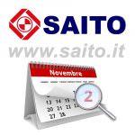 Chiusura aziendale Novembre 2018 | SAITO