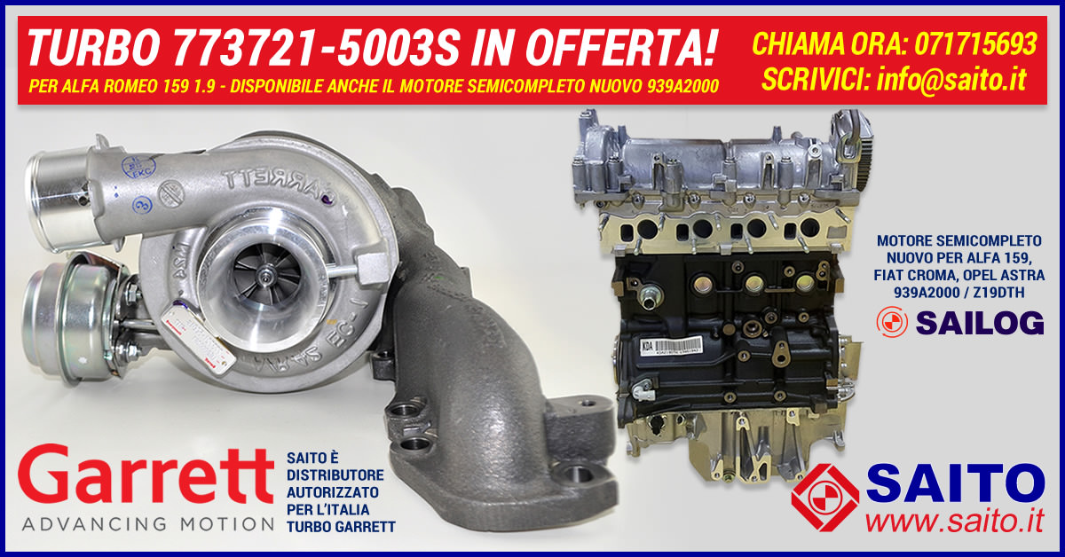 Turbo Garrett 773721-5003S + Motore Fiat 939A2000