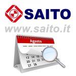 Chiusura aziendale periodo estivo 2019 | SAITO