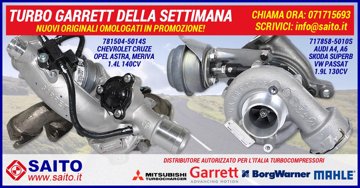 Turbo Garrett della Settimana 717858-5010S e 781504-5014S | SAITO