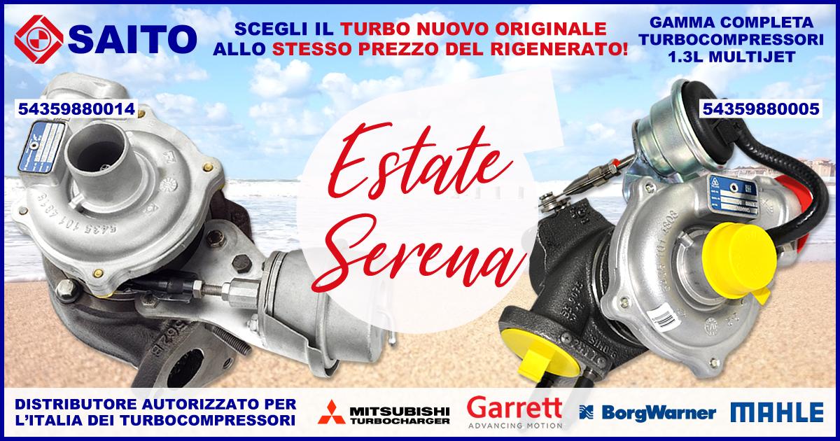Estate Serena, si riparte! Turbo BorgWarner in promozione | SAITO