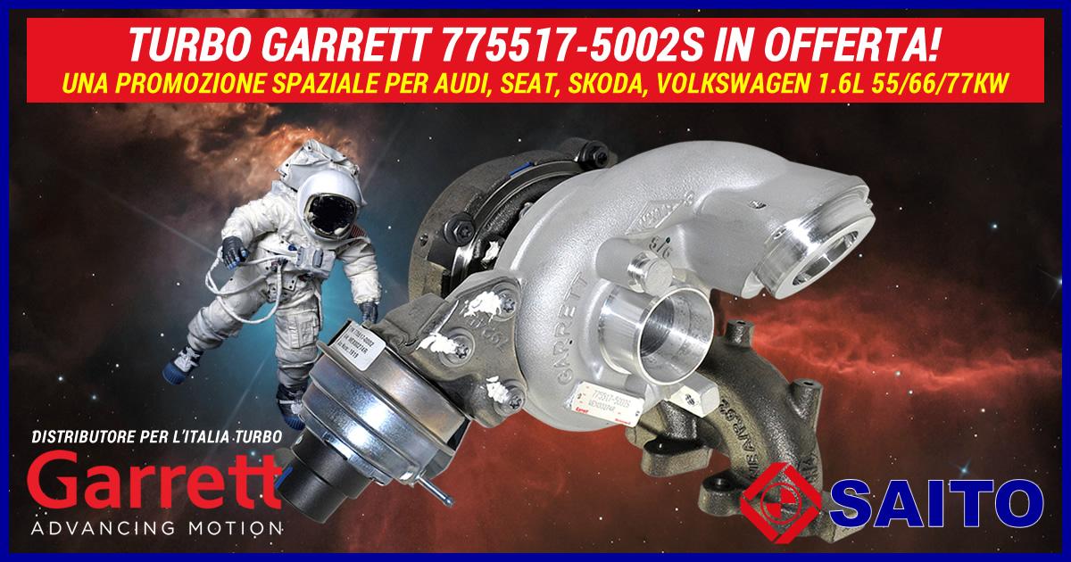 Turbo Garrett 775517-5002S in offerta, una promozione spaziale! | SAITO
