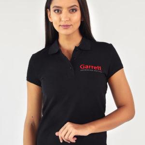 Garrett Gear - Polo Shirt Black Donna | SAITO
